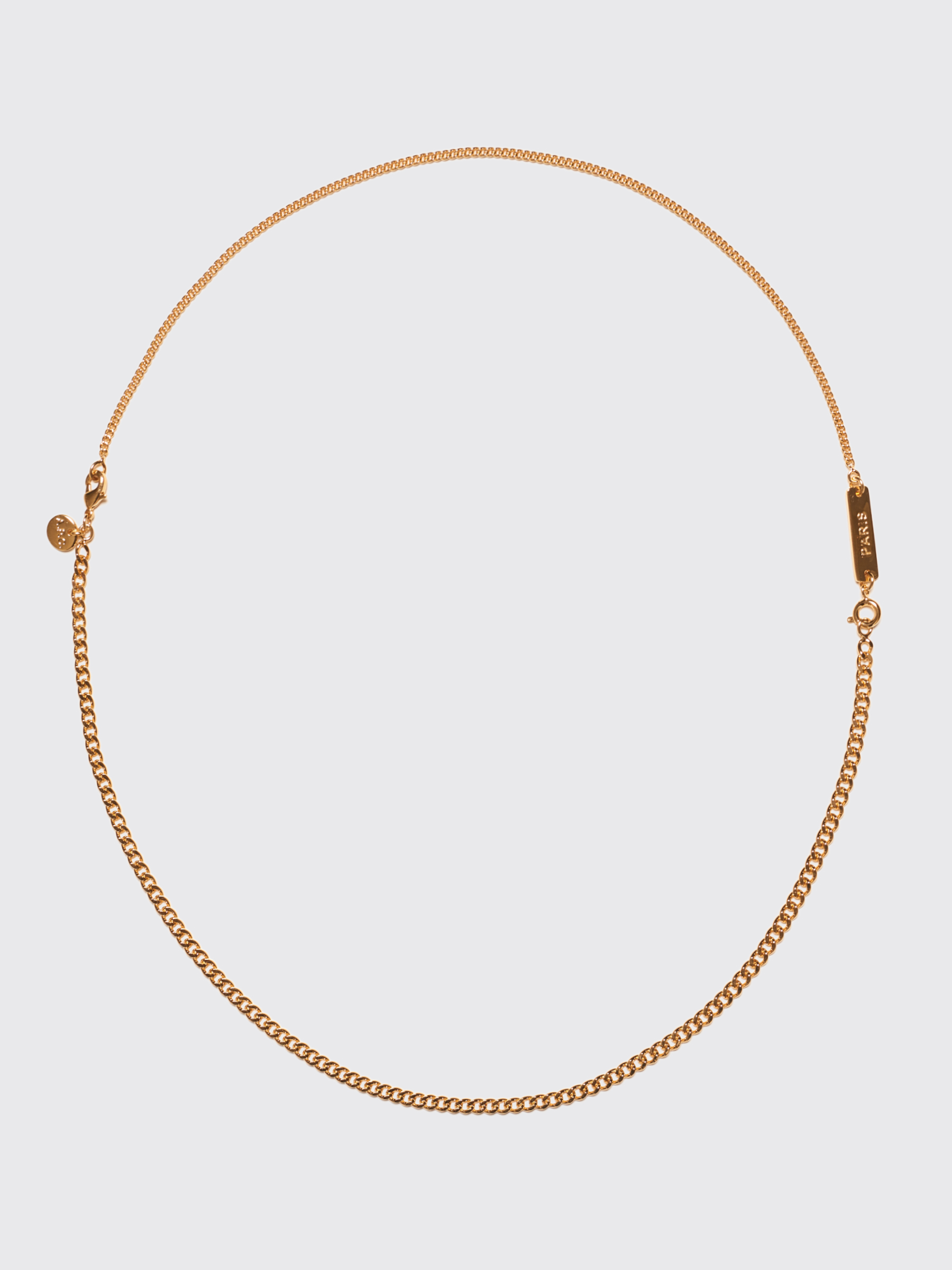 image a apc necklace gold sad fwrd in p product c of face