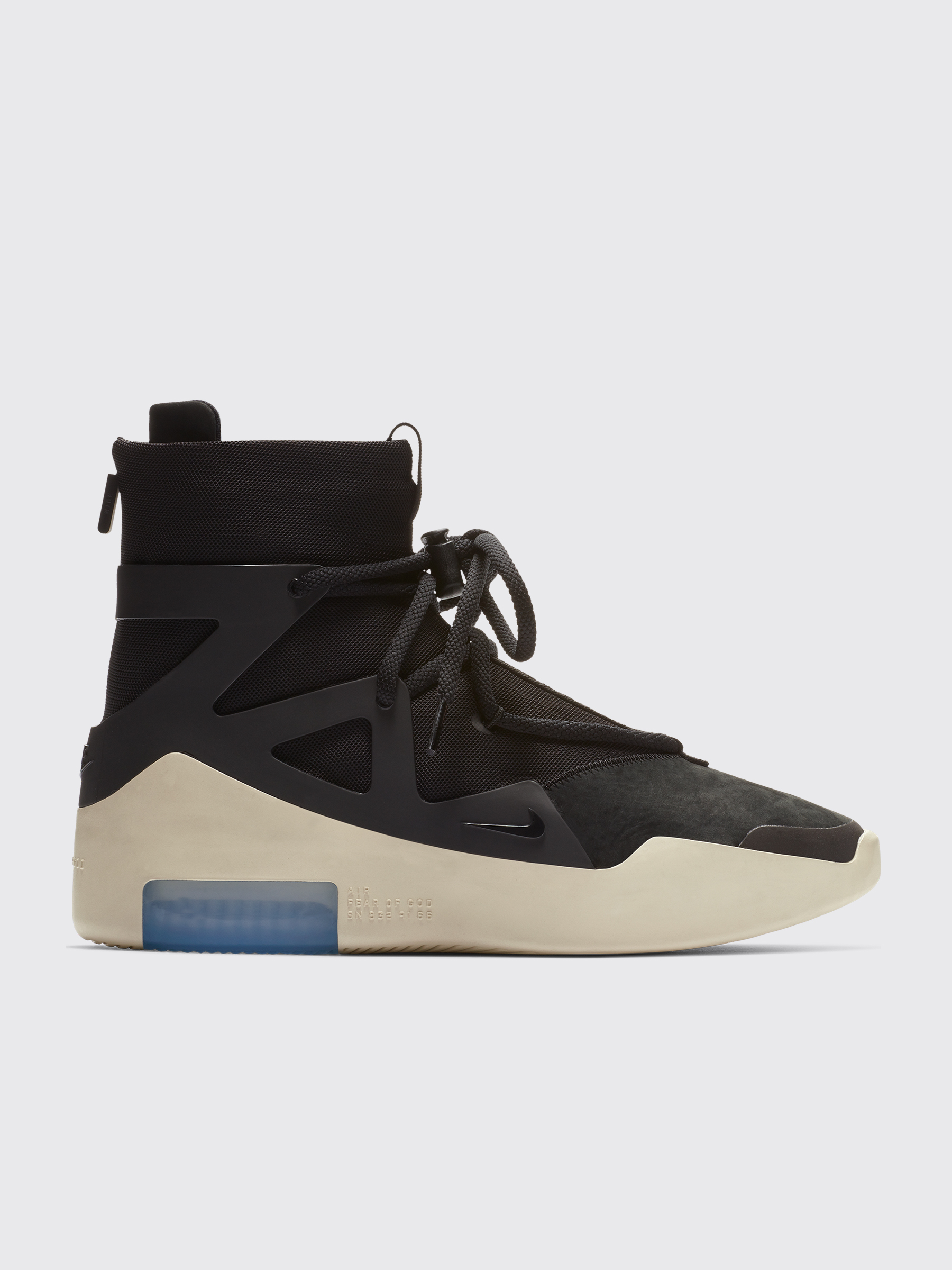 sports shoes 040af 624d5 Très Bien - Nike Air Fear Of God 1 Black