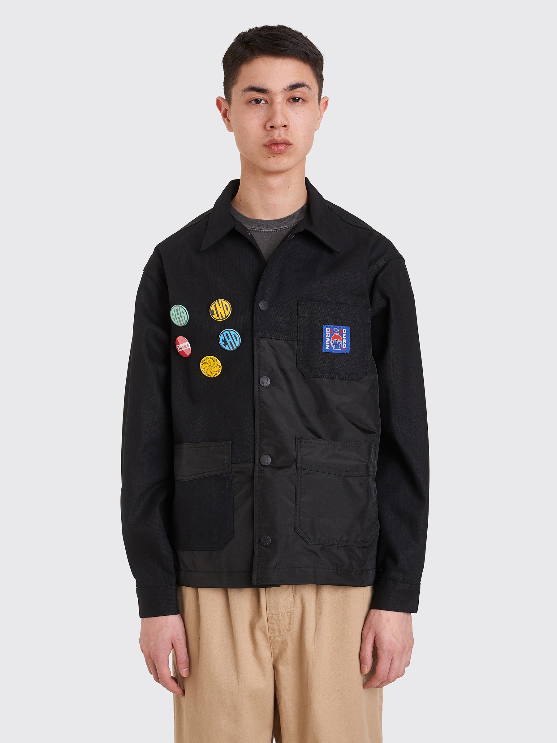 Brain Dead Paneled Chore Coat Black