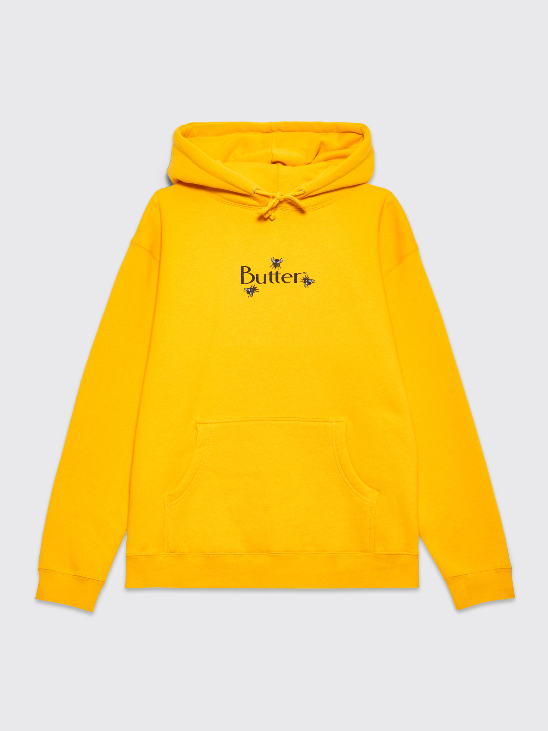 Butter Goods Fly Classic Logo Hooded Sweatshirt Gold