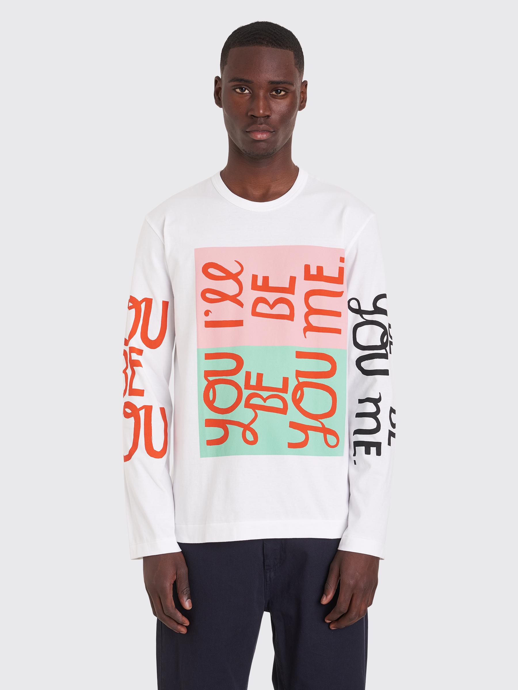 4775c9cf0a9e6 Très Bien - Comme des Garçons Homme Plus Printed LS T-shirt White