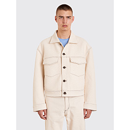 Acne Studios Magnite Giant Twill Jacket Ivory White by Très Bien