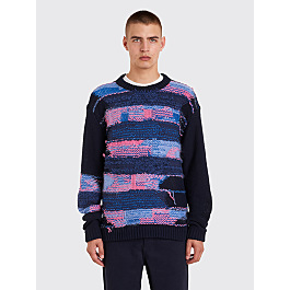 Acne Studios Nilvia Knit Sweater Navy / Purple by Très Bien