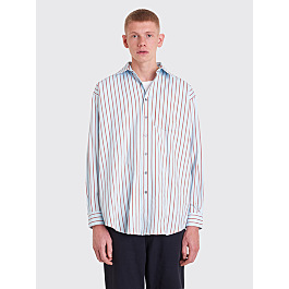 Acne Studios Atlent New Shirt Blue / Red by Très Bien