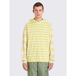 Acne Studios Face Longsleeve Hooded T Shirt Pastel Green by Très Bien