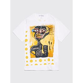 Comme Des Garçons Shirt Jean Michel Basquiat T Shirt White / Yellow by Très Bien