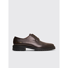 Common Projects Leather Derby Shoes Brown by Très Bien
