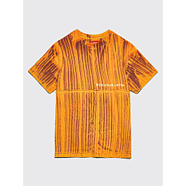 Eckhaus Latta Lapped T Shirt Orange Shibori by Très Bien