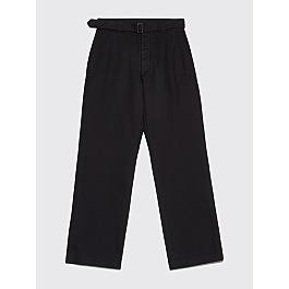 Margaret Howell Mhl Self Belt Pants Cotton Drill Black by Très Bien