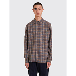 Margaret Howell Minimal Shirt Tartan Brown / Grey by Très Bien