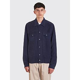 our-legacy-px-shirt-blue-cupro by très-bien