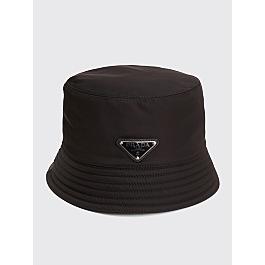 Prada Nylon Bucket Hat Triangle Logo Black by Très Bien