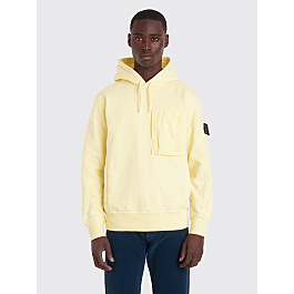 Stone Island Shadow Project Hooded Sweatshirt Yellow by Très Bien