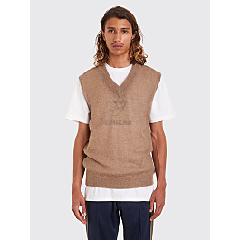 Très Bien Knit Vest Mohair Dusty Beige by Très Bien