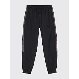 Très Bien Warm Up Trousers Jacquard Panel Black by Très Bien
