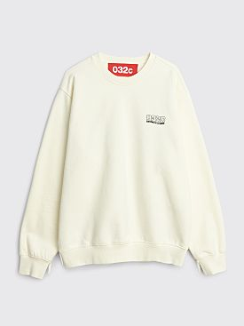 032c Glow In The Dark Crewneck Sweatshirt Natural White