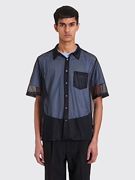CMMN SWDN Niels Short Sleeve Mesh Shirt Black