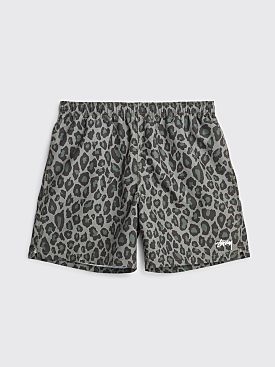 Stüssy Leopard Water Shorts Green