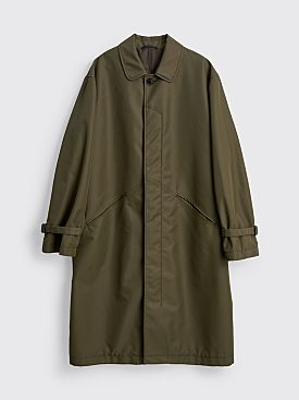 TRES BIEN ATELJÉ Tailored Car Coat Moss Green
