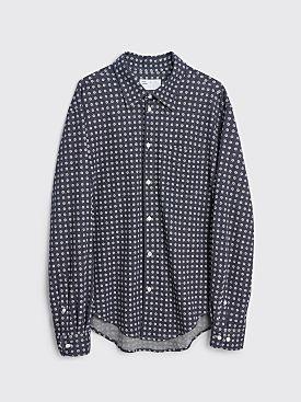 4SDESIGNS Knit BD Shirt Navy