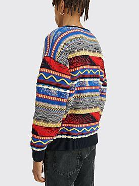 4SDESIGNS Kayak Knit Sweater Blue / Red