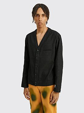 4SDESIGNS Cardigan Shirt Black