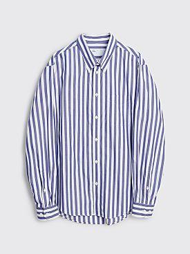 4SDESIGNS Classic SP Stripe Shirt White / Blue