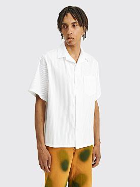 4SDESIGNS Wide Camp Shirt White