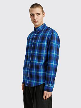 4SDesigns Quilted BD Shirt Checkered Blue