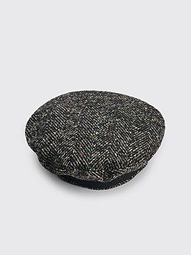4SDesigns Beret Wool Tweed Grey