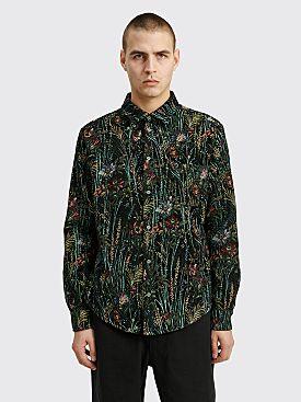 4SDesigns Overshirt Multi Floral Gobelin Black