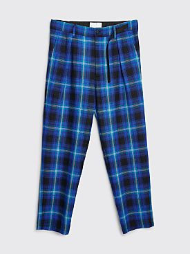 4SDesigns Pleat Pants Checkered Blue