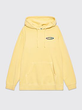 Nine One Seven Hooded Sweatshirt Racer Logo Washed Yellow