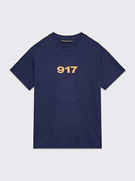 Nine One Seven Block Logo T-shirt Navy
