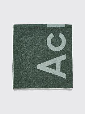 Acne Studios Toronty Logo Scarf Khaki / Dark Green