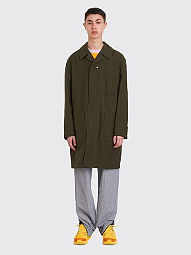 Acne Studios Cotton Car Coat Olive Green