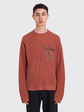 Acne Studios Nylon Pocket Sweater Ginger Orange