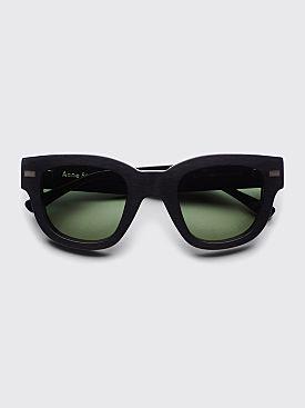 Acne Studios Frame Sunglasses Black / Green