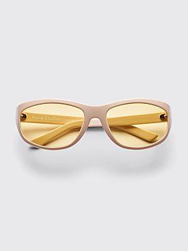 Acne Studios Lou Sunglasses Cream White / Yellow
