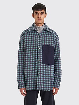 Acne Studios Relaxed Overshirt Lilac / Mint