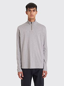 Acne Studios Evias Half Zip LS T-shirt Light Grey