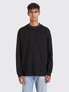 Acne Studios Logo Crew Neck LS T-shirt Black