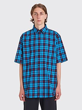 Acne Studios Salvator Check Flan Shirt Red / Azure Blue