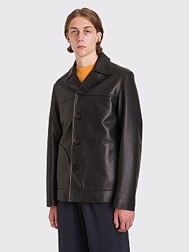 Acne Studios Lance Leather Jacket Black