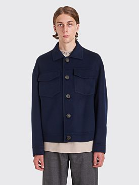 Acne Studios Dagnite Cropped Wool Jacket Dark Blue