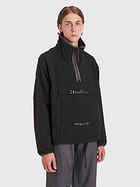 Acne Studios Odion Half Zip Anorak Jacket Black
