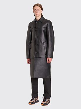 Acne Studios Laius Bond Leather Coat Black