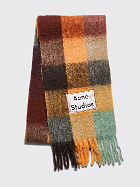 Acne Studios Vally Scarf Chestnut Brown