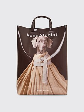 Acne Studios Baker Ap Tote Bag Beige / Brown