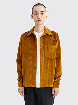 Acne Studios Denver New Corduroy Shirt Oil Yellow